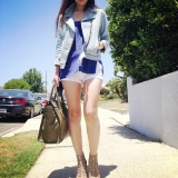 denim craze: biker jacket